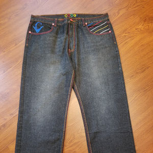 Coogi Mens Snakes Embroidered Jeans Size 42x34